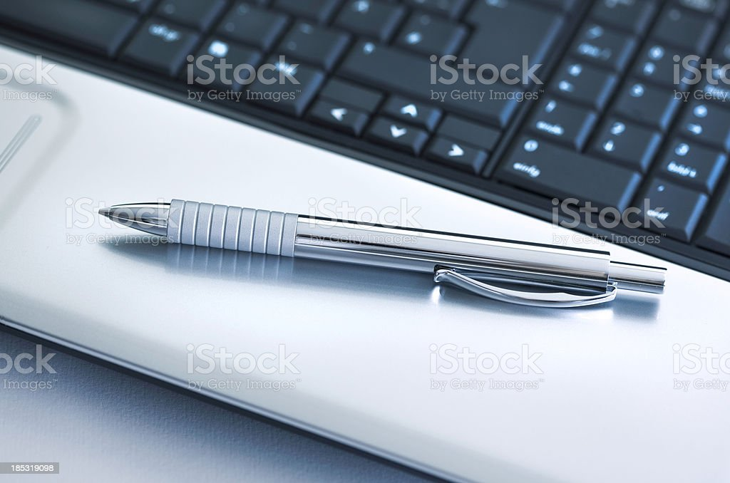 Metal pen royalty-free stock photo