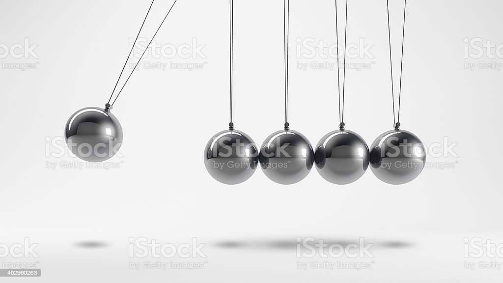 Metal pendulum stock photo