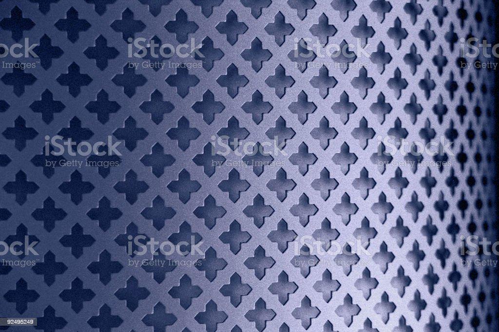 Metal Perforation Pattern royalty-free stock photo