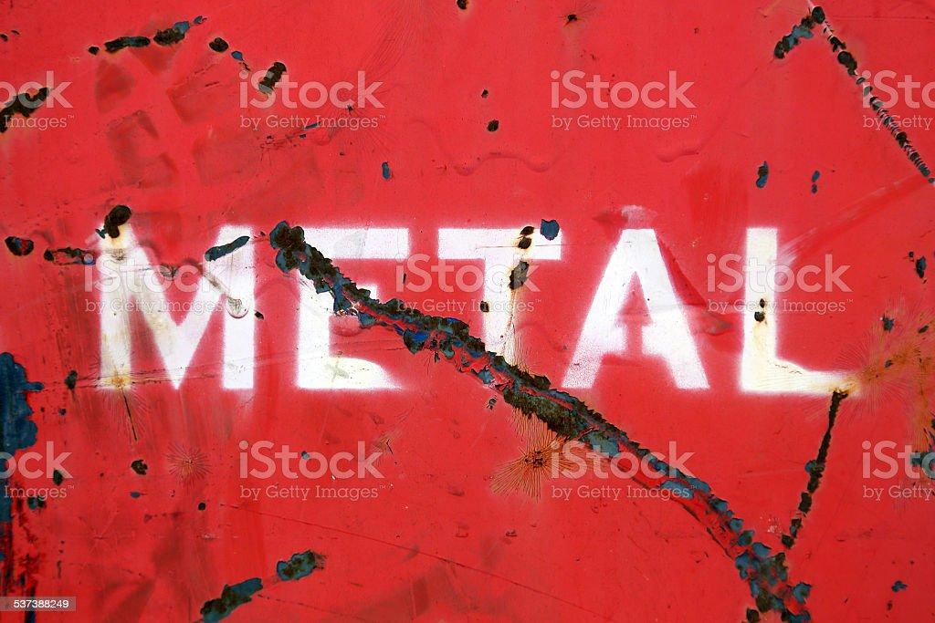 Metal stock photo