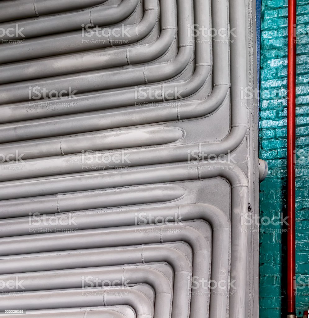 Metal pipes industry stock photo