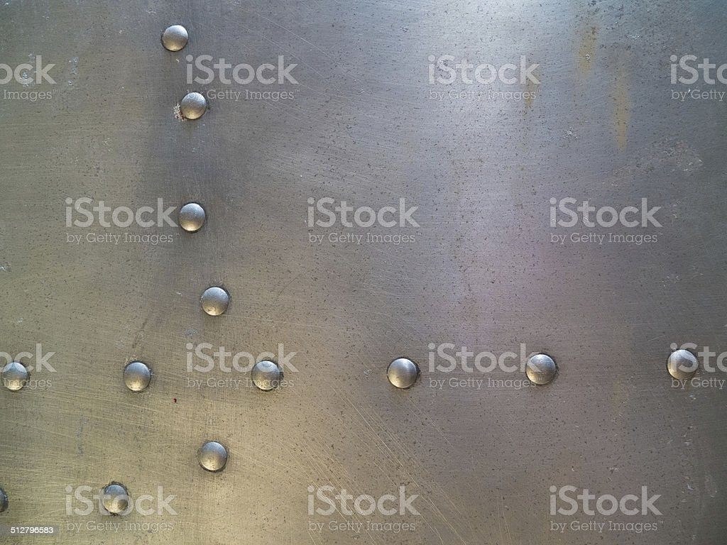 metal plate and rivets stock photo