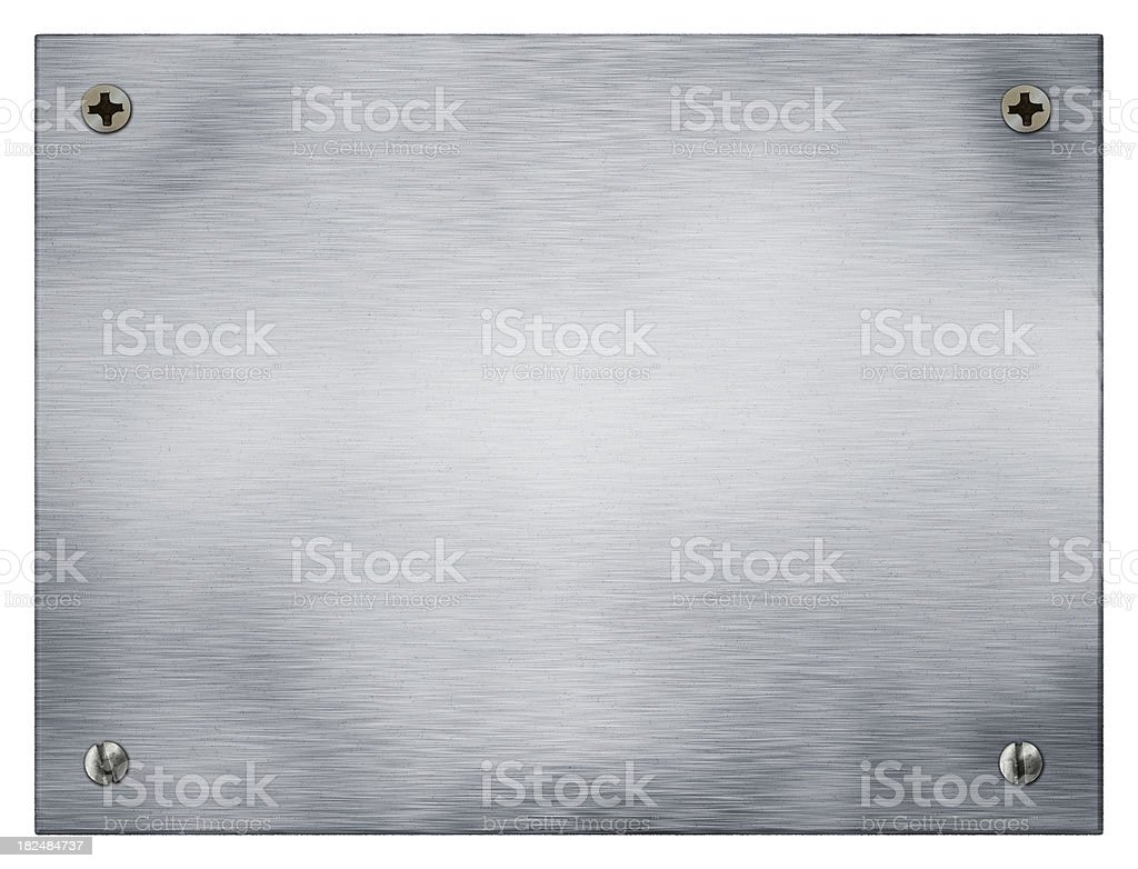 metal plate and screws royalty-free stock photo