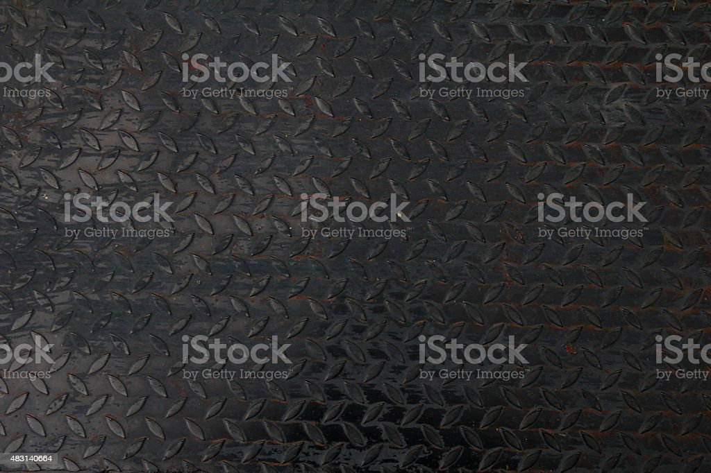 Metal plate. Detailed stock photo