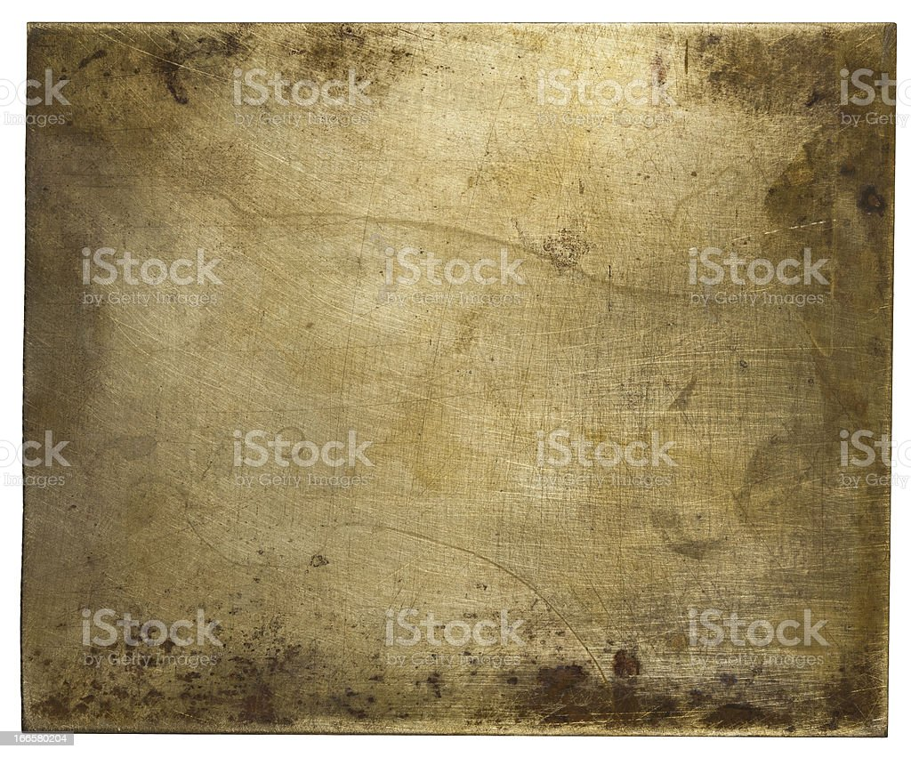 Metal plate royalty-free stock photo