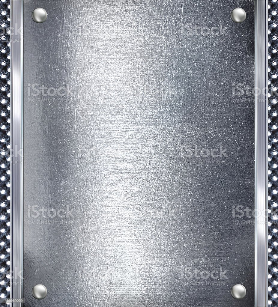 Metal plate steel background. royalty-free stock photo