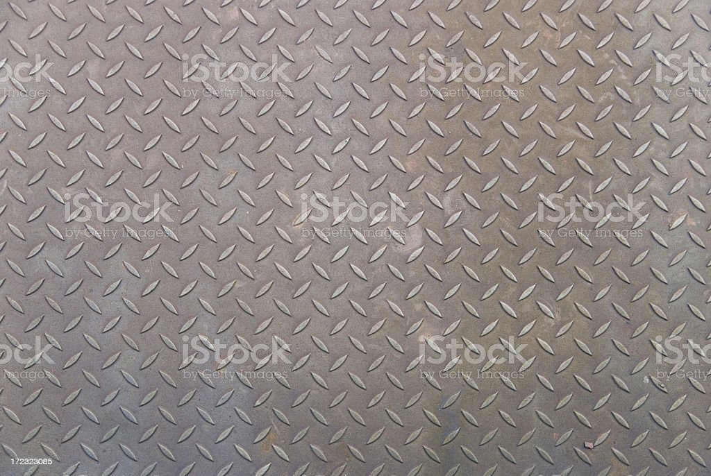 Metal plate texture from old railway bridge - background, games royalty-free stock photo