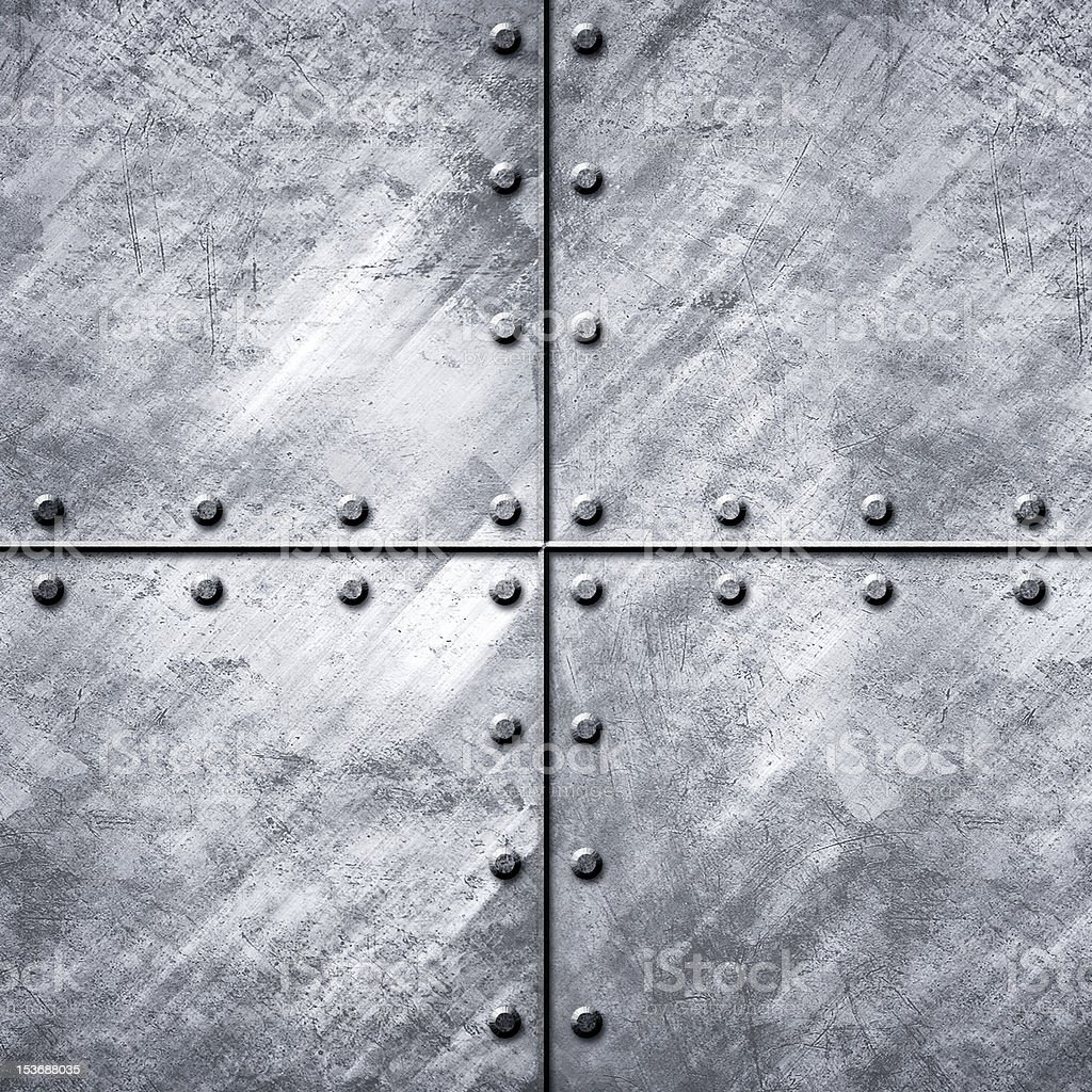 metal plate with rivets royalty-free stock photo