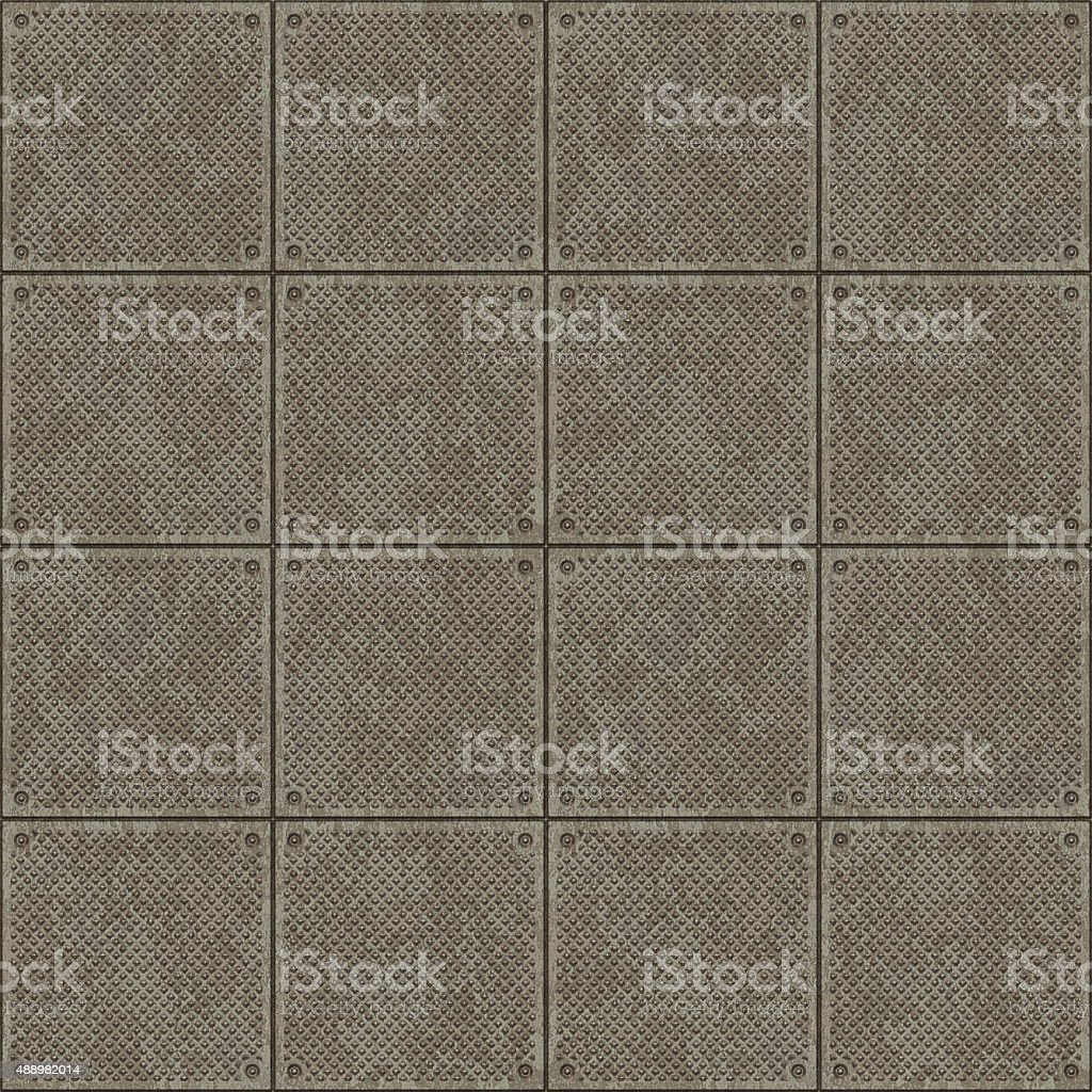 Metal Plates Seamless Pattern stock photo