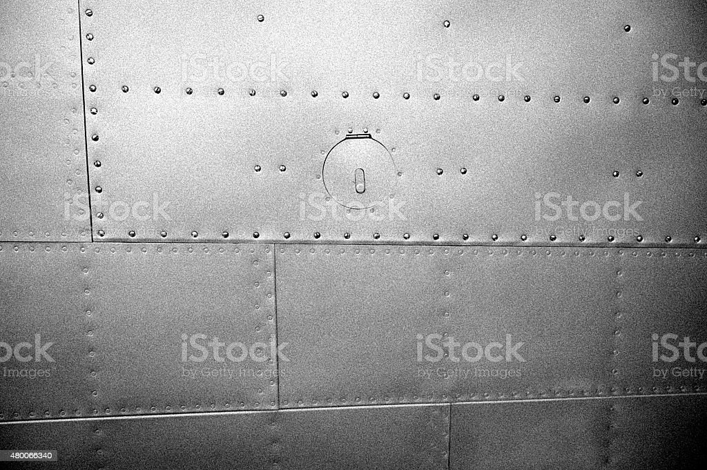 metal plates with rivets stock photo