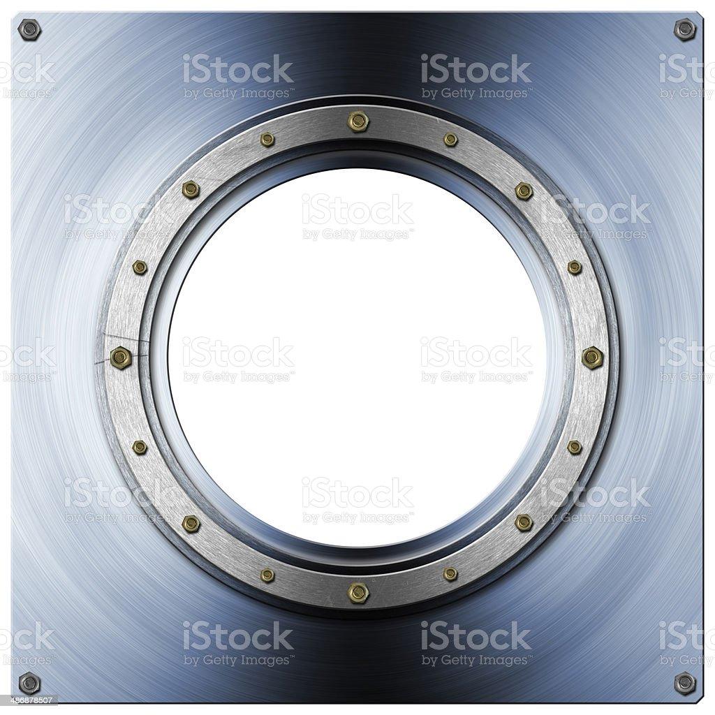 Metal Porthole stock photo