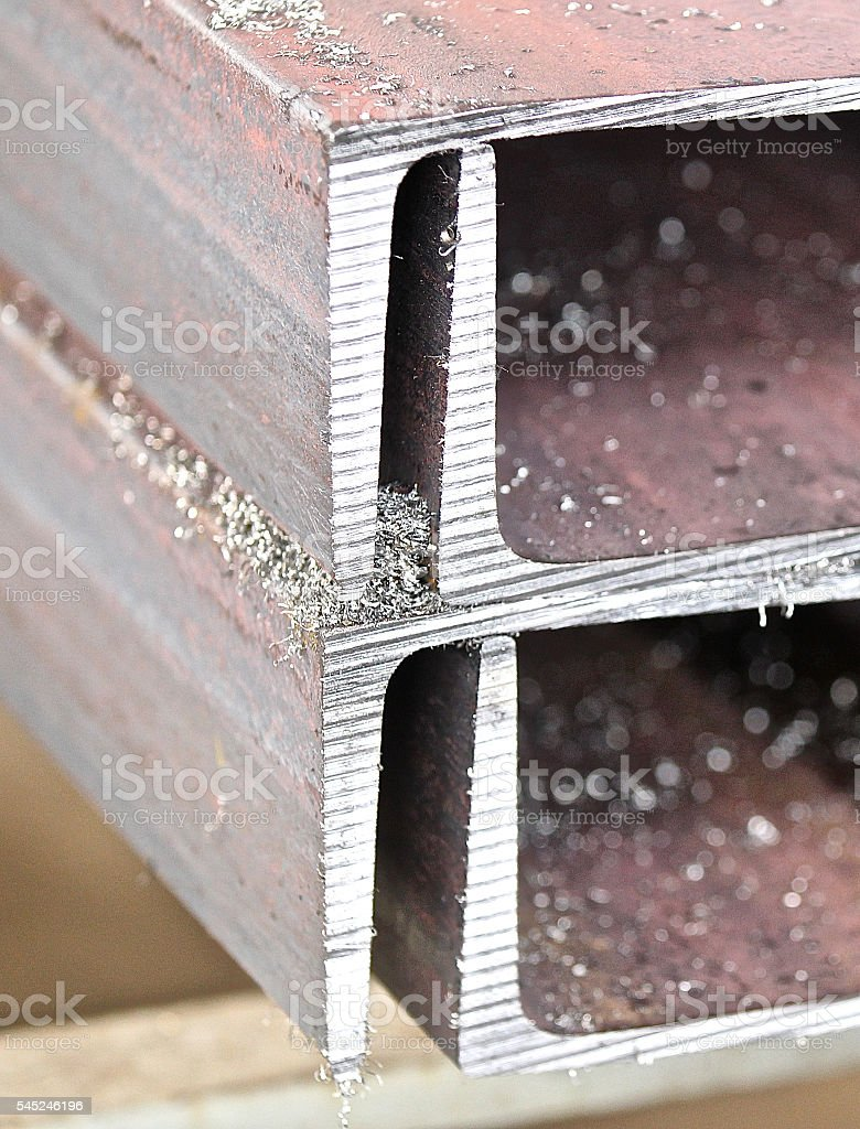 metal profile channel stock photo