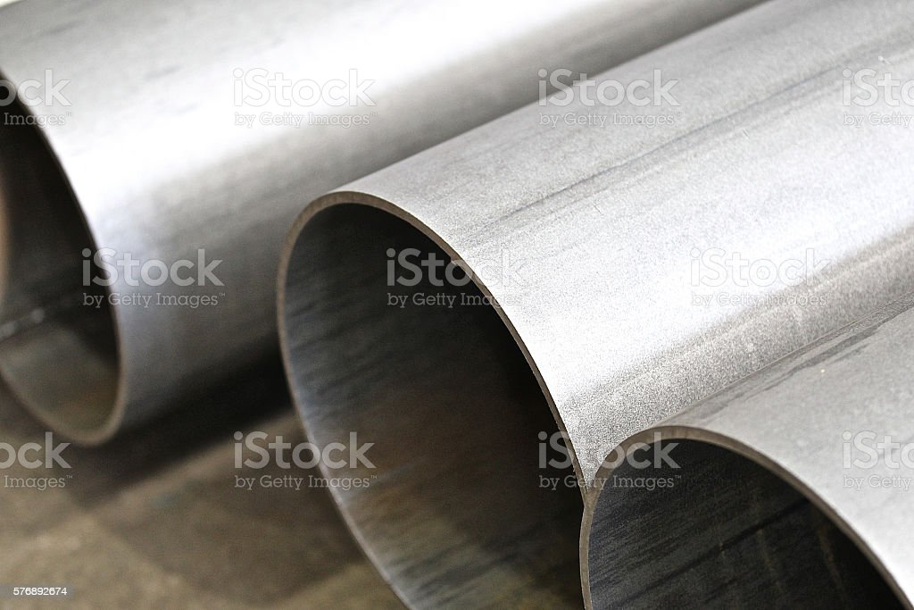 Metal profile Pipe stock photo