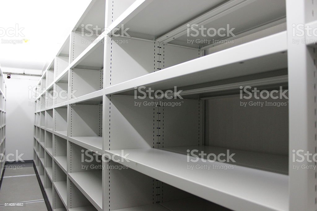 Metal racks stock photo