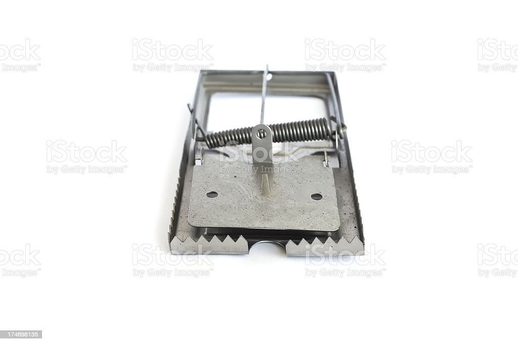 Metal rat trap stock photo