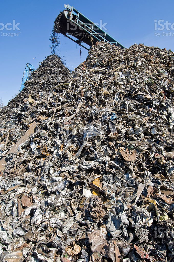 Metal Recycling Center stock photo