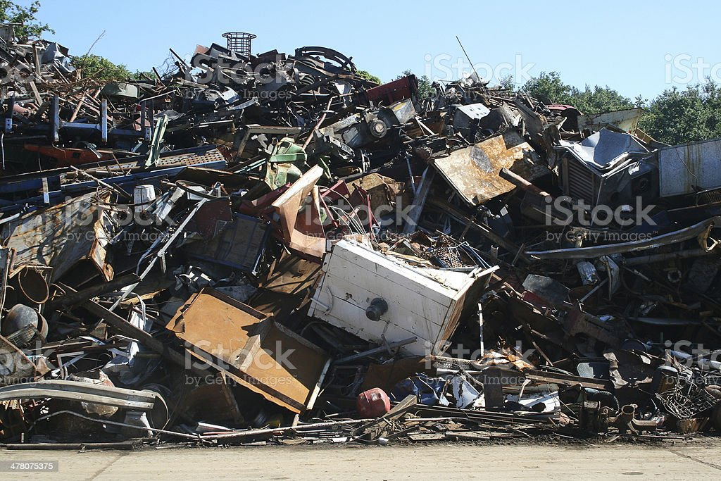 Metal recycling junk yard royalty-free stock photo