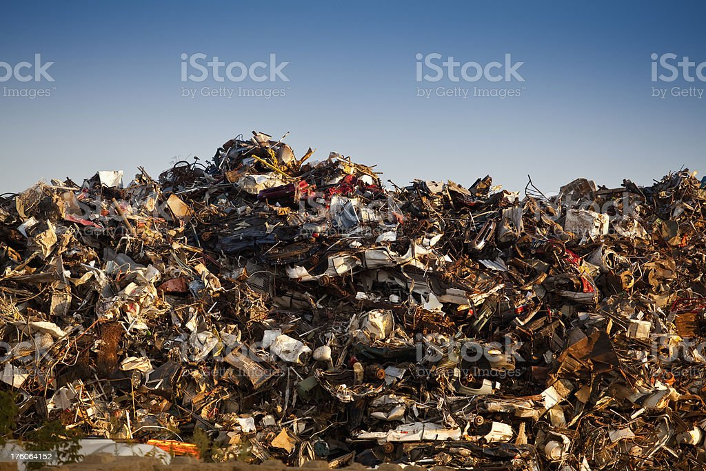 Metal recycling royalty-free stock photo