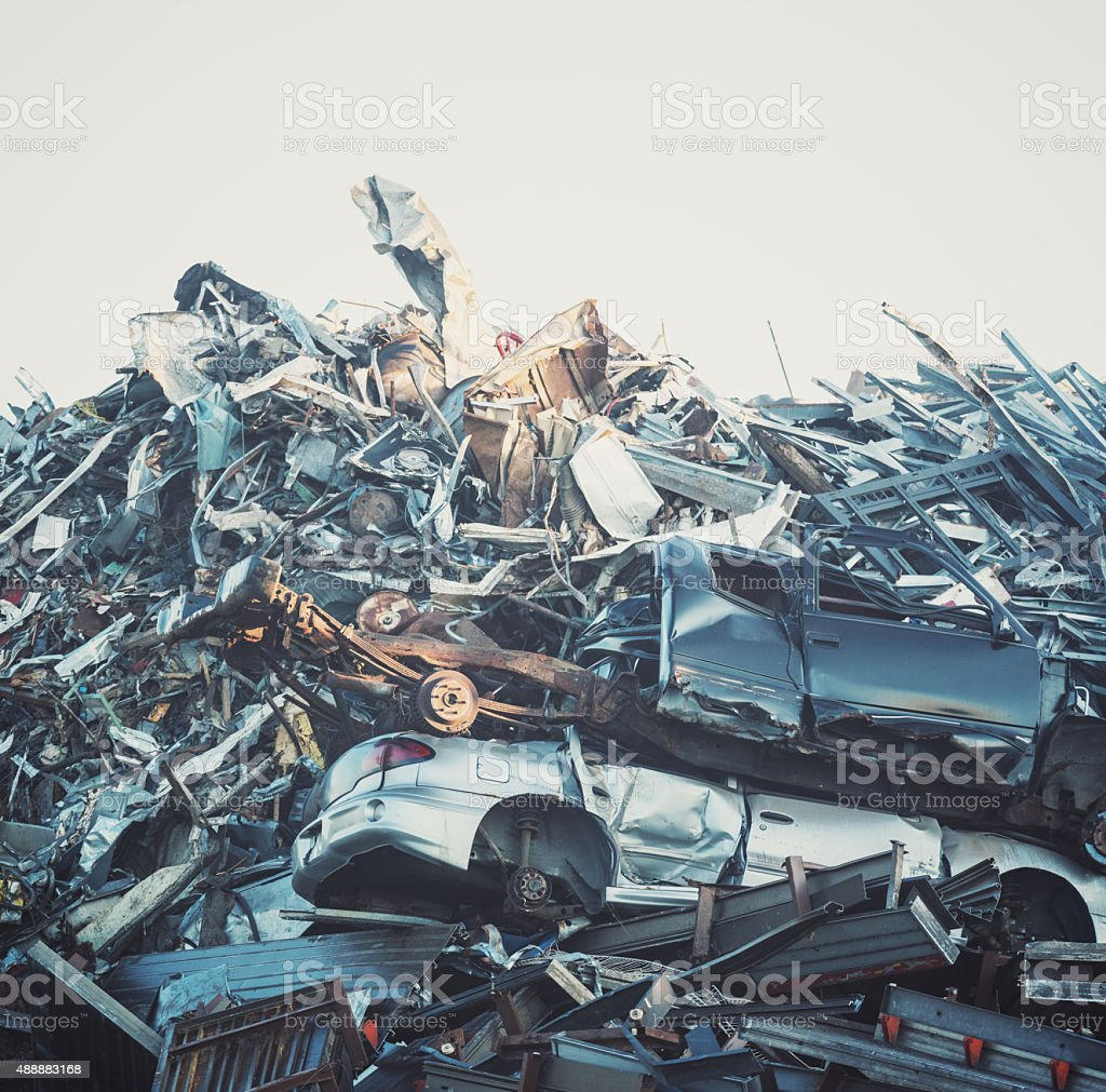 Metal Recycling stock photo