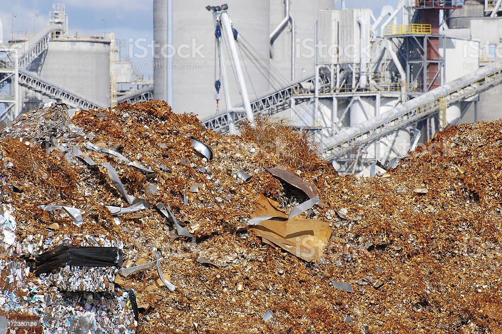 Metal recycling plant royalty-free stock photo