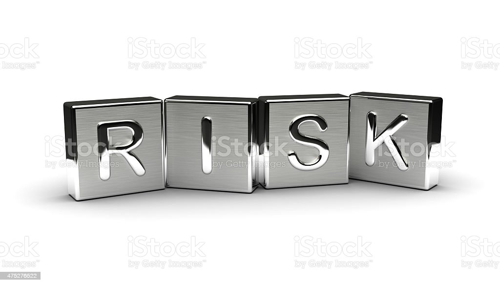 Metal Risk Text stock photo