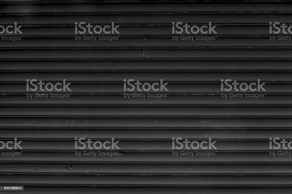 Metal roller shutter stock photo