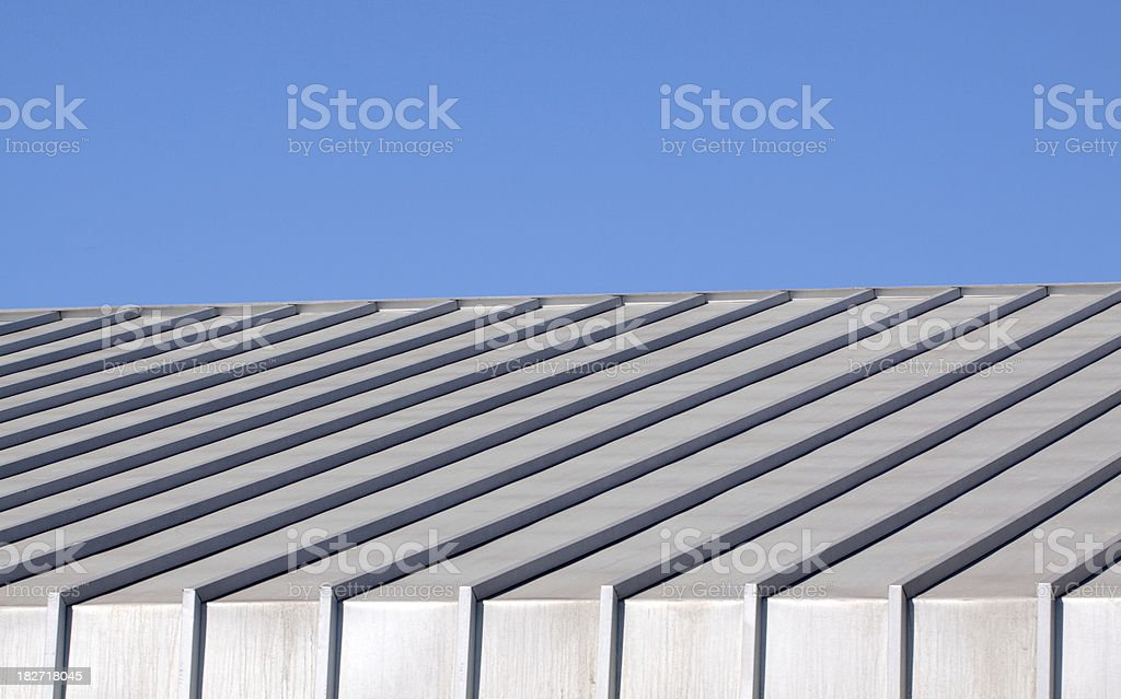 Metal Roof and Blue Sky royalty-free stock photo