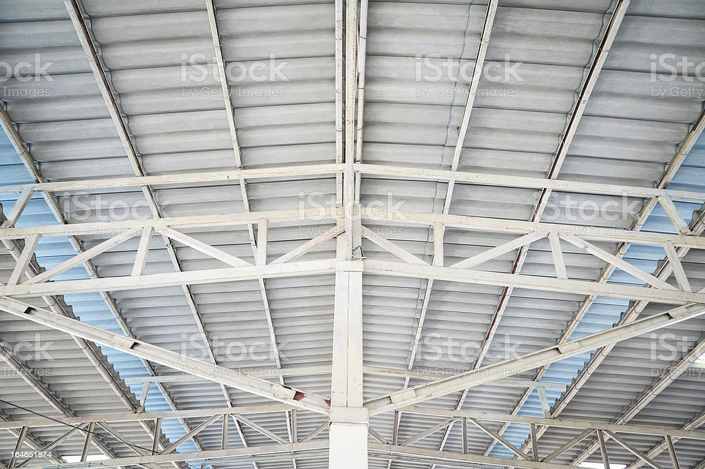 metal roof structure royalty-free stock photo