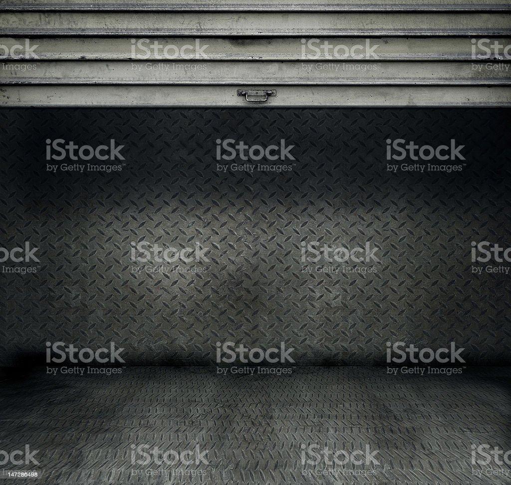 Habitación con Puerta de Metal rollo foto de stock libre de derechos