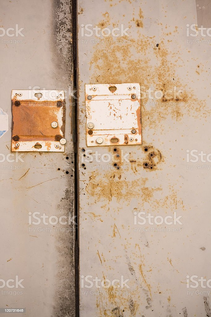 Metal Rust Texture on Doors royalty-free stock photo