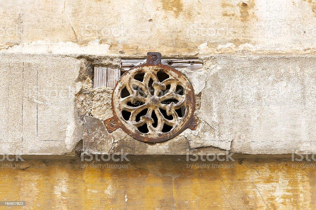 Metal, rusty ornament stock photo
