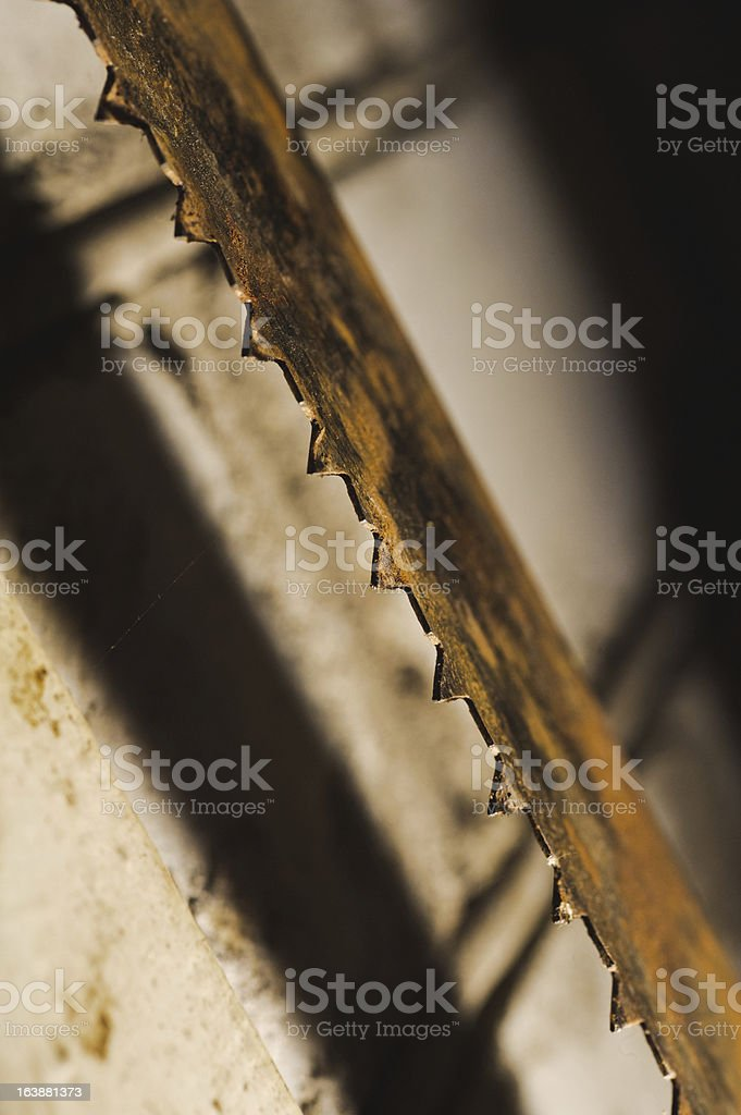 metal saw blade. Abctract photo. work tools royalty-free stock photo