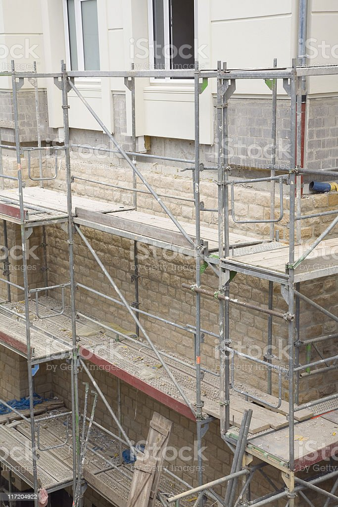 metal scaffolding royalty-free stock photo