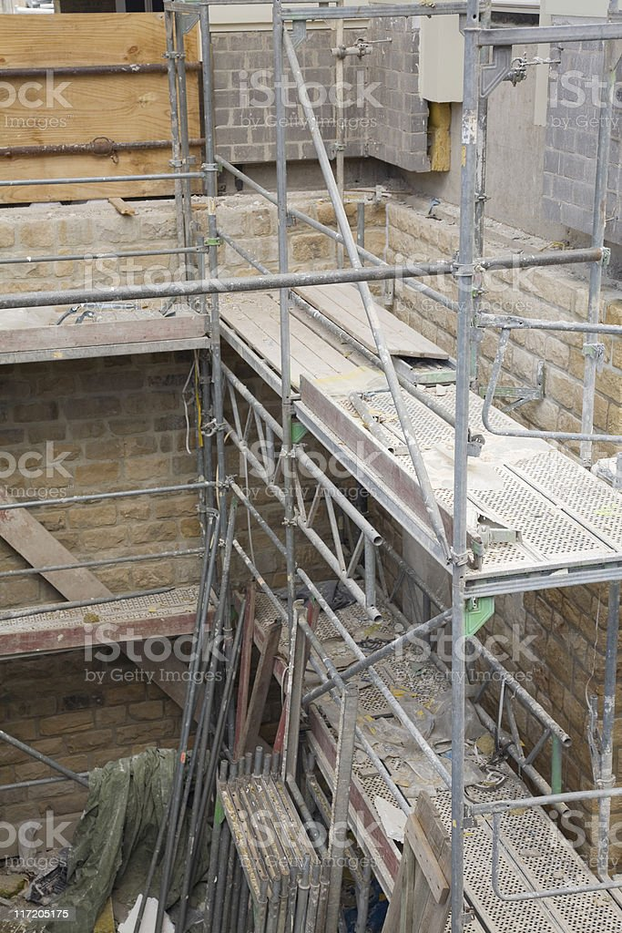 metal scaffolding royalty-free stock photo