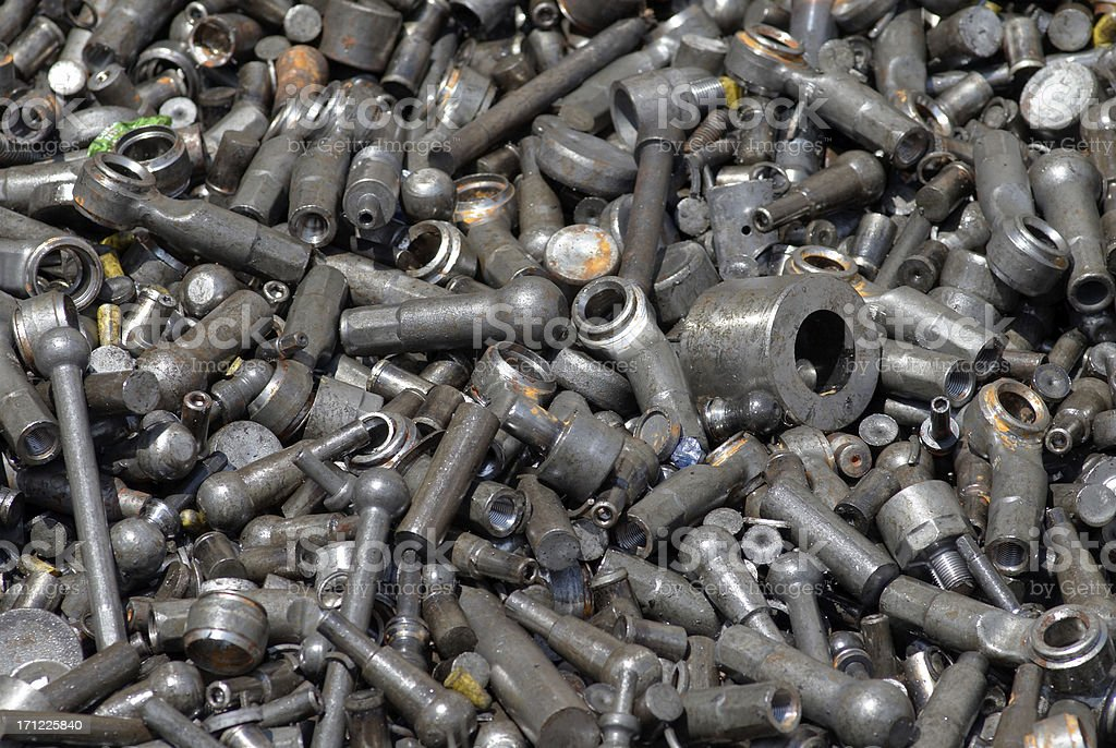 Metal Scrap stock photo
