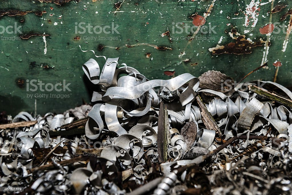 metal scrap piled up stock photo
