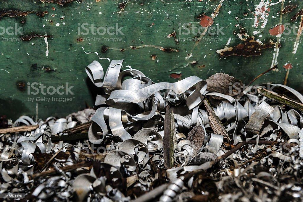metal scrap piled up stock photo