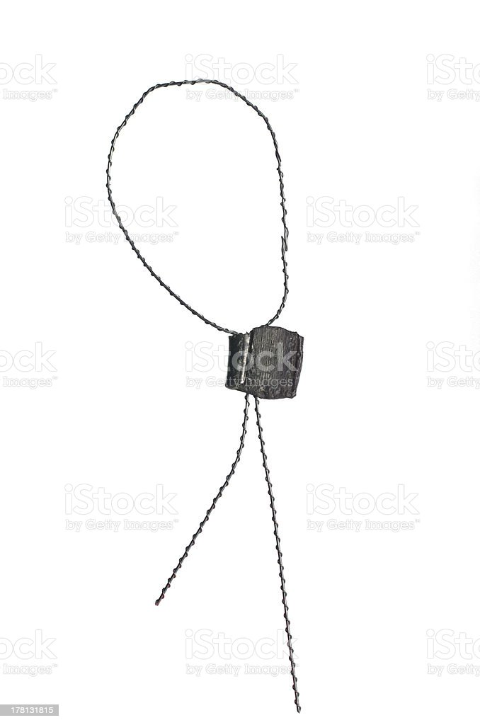 metal seal with wire royalty-free stock photo