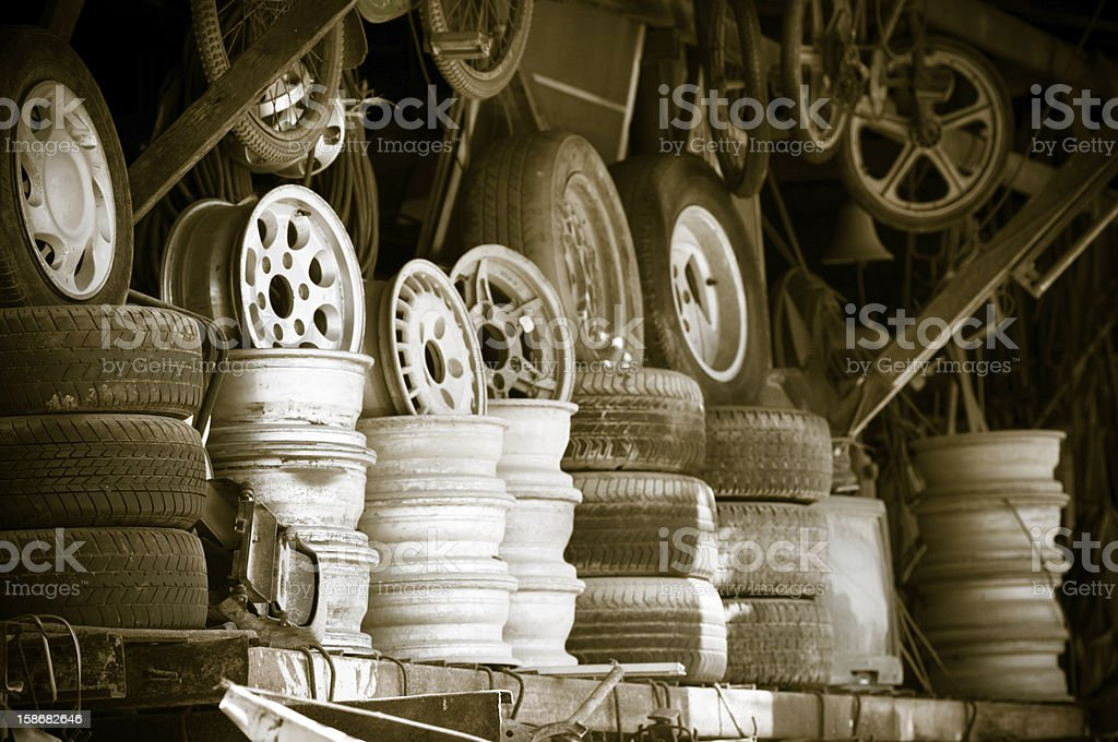 Metal second hand shop royalty-free stock photo