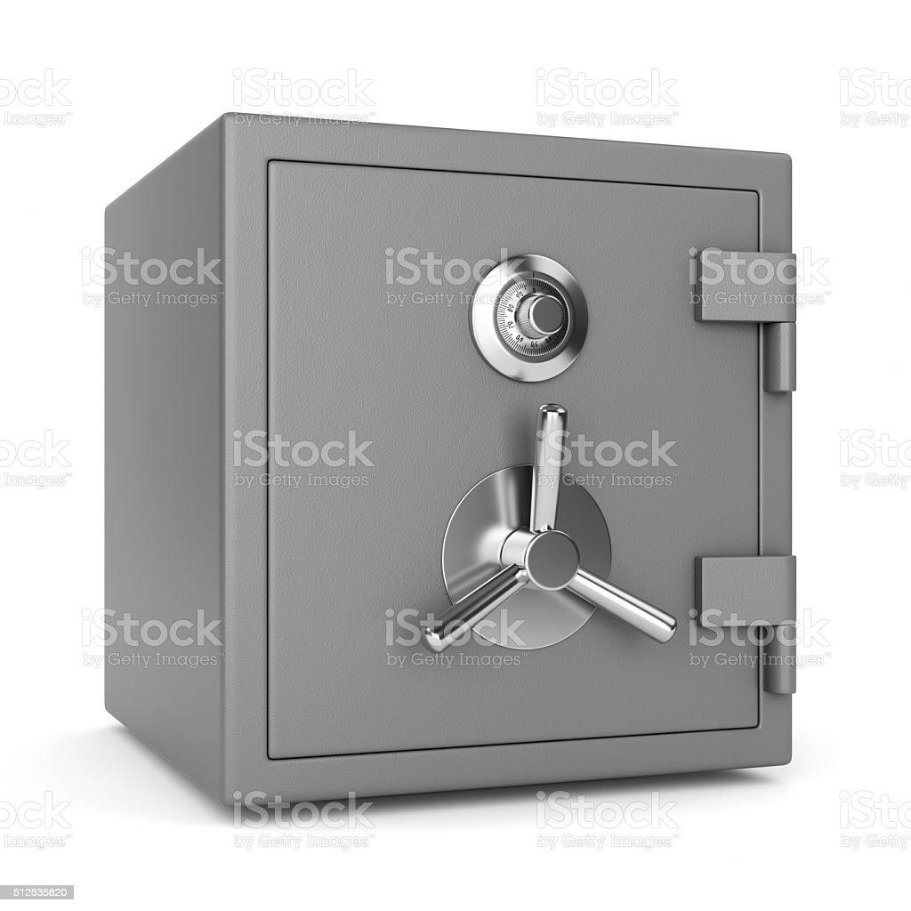 Metal security safe stock photo