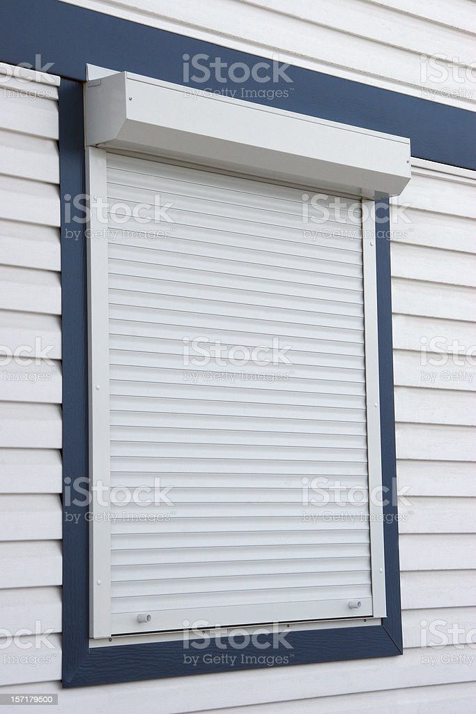 Metal Security Window Blind royalty-free stock photo