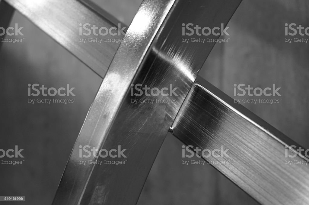 X metal shape stock photo