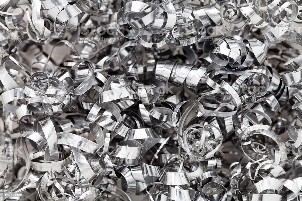 Metal Shavings. royalty-free stock photo