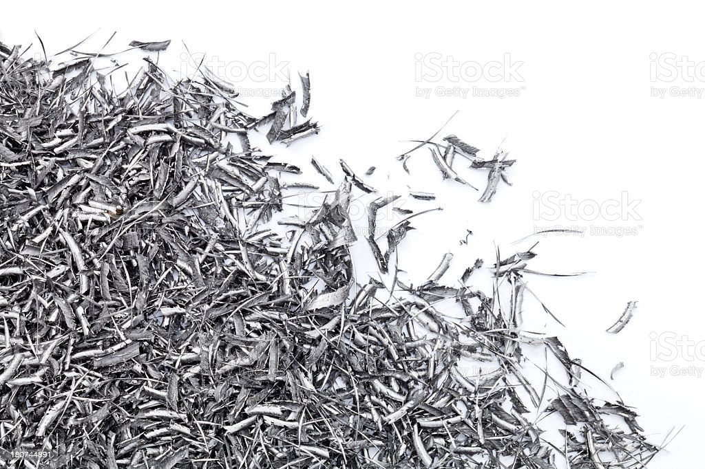 Metal Shavings. stock photo