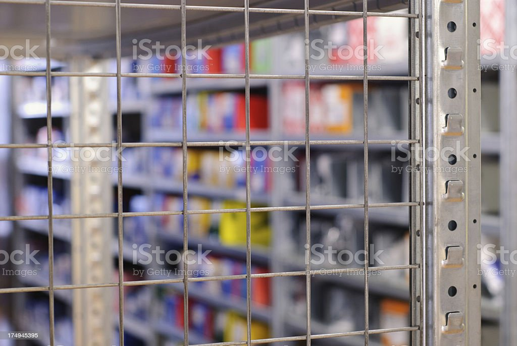 Metal shelf structure royalty-free stock photo