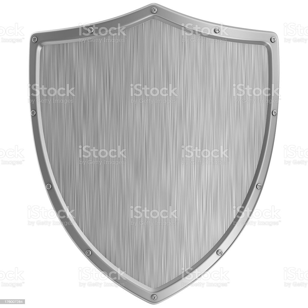 metal shield stock photo