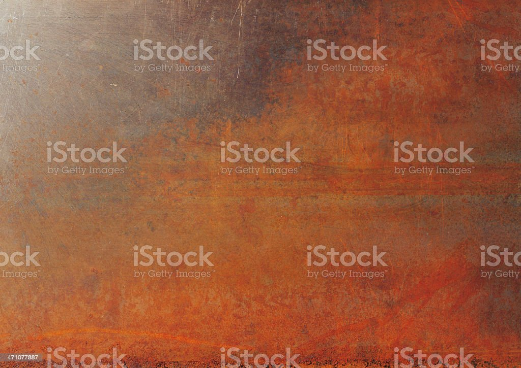 Metal showing rust and corrosion royalty-free stock photo
