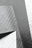 Metal Siding Angles Building Facade Abstract
