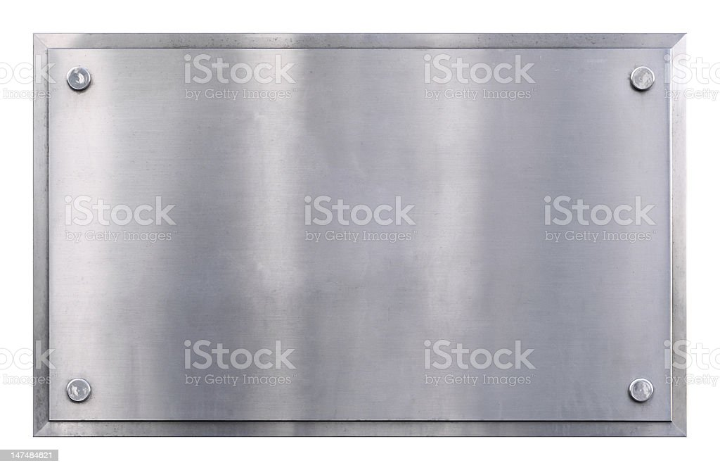 Metal sign background stock photo