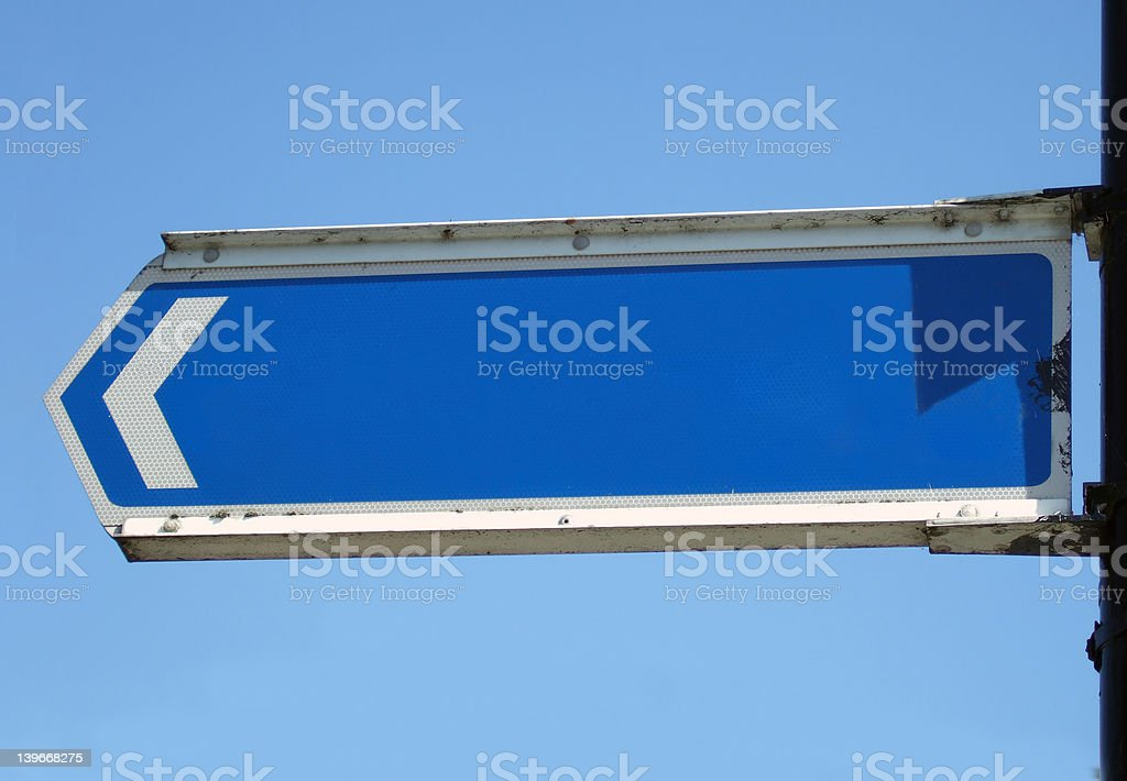Metal Sign blank for your message royalty-free stock photo
